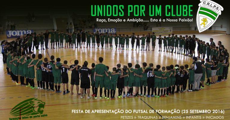 Festa de Apresentação da Formação do Futsal